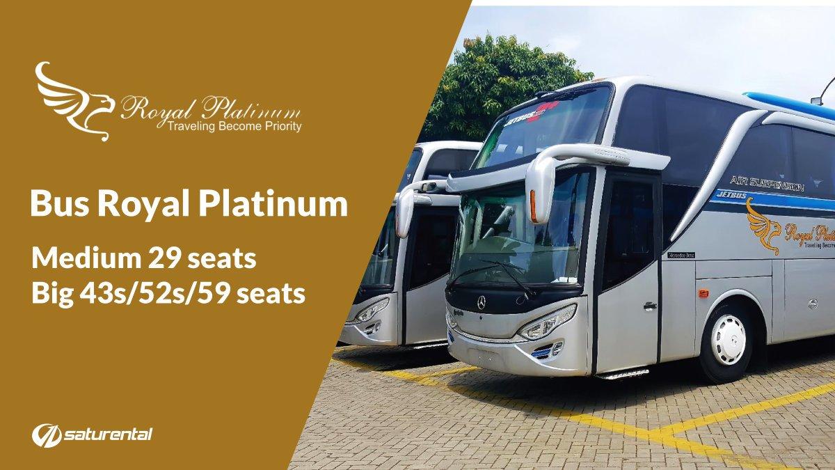 Info Lengkap Foto Harga Sewa Bus Pariwisata Royal Platinum