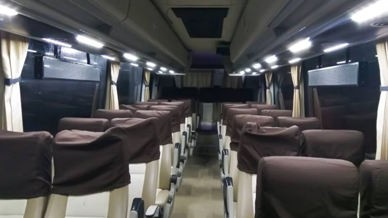 saturental - foto medium bus pariwisata bin ilyas interior dalam 29s 33s 40 seats a