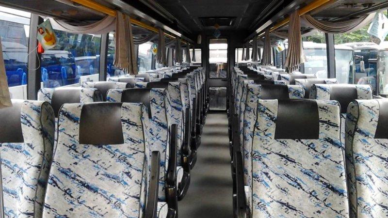 saturental - foto big bus pariwisata citymiles interior dalam 47s 57 seats a