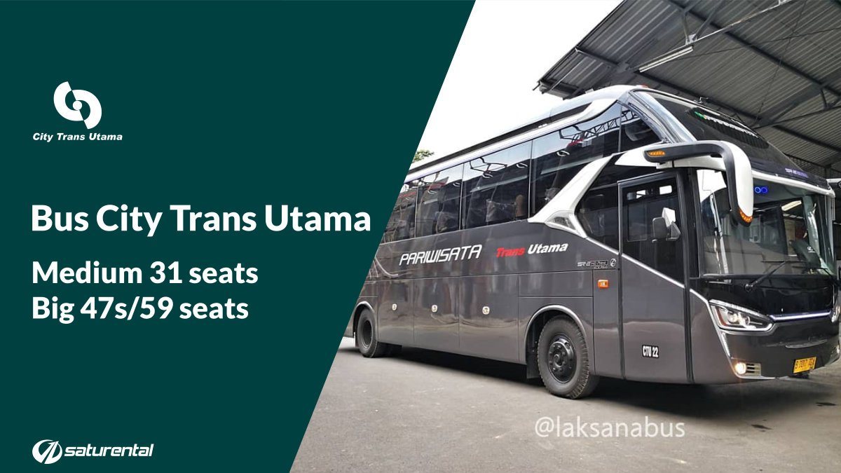 saturental - foto bus pariwisata city trans utama big bus