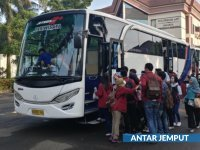 saturental - menyediakan bus pariwisata untuk antar jemput karyawan atau sekolah