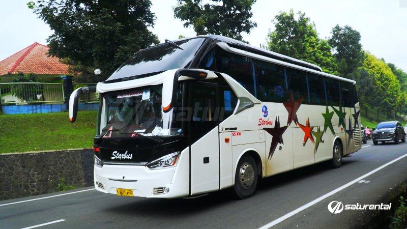 foto big bus pariwisata starbus shd hdd 43s 54 seats f