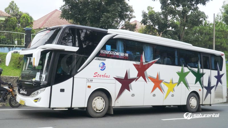 foto big bus pariwisata starbus shd hdd 43s 54 seats g