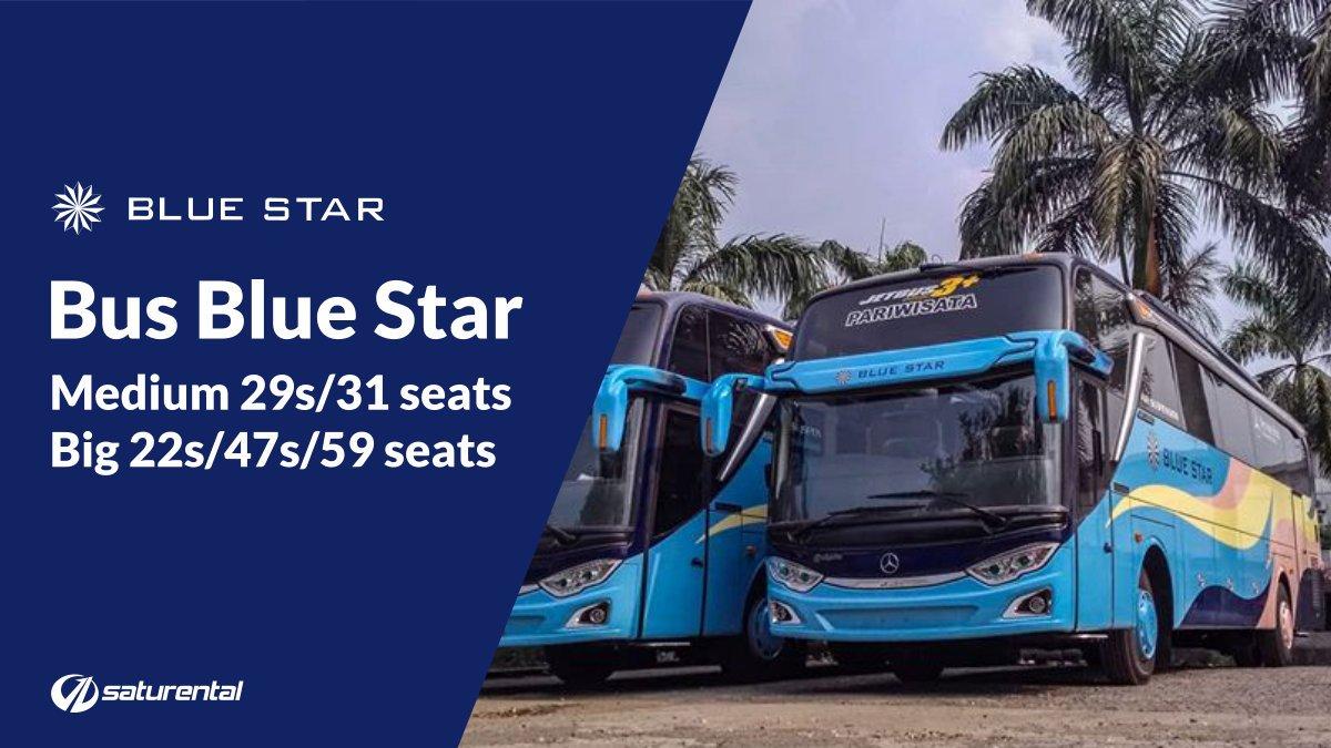 foto bus pariwisata blue star c