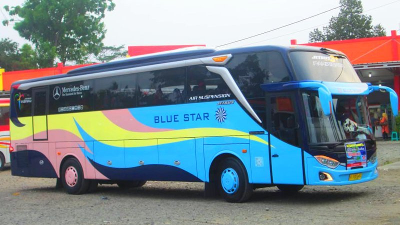 foto bus pariwisata blue star shd hdd 47s 59 seats h