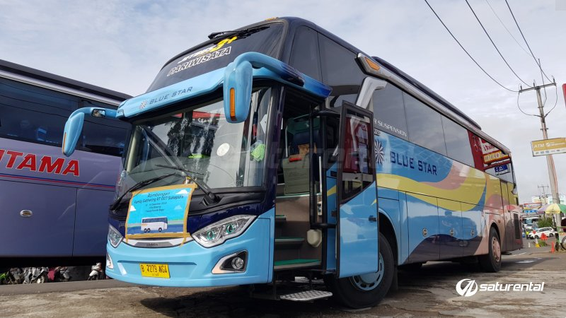foto bus pariwisata blue star shd hdd 47s 59 seats j