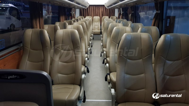 foto bus pariwisata trac medium bus 31 seats ba