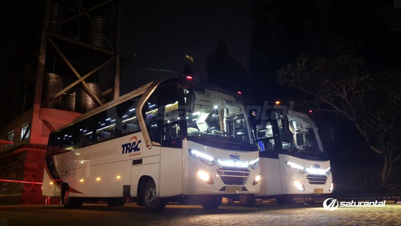 foto bus pariwisata trac medium bus 35 seats a