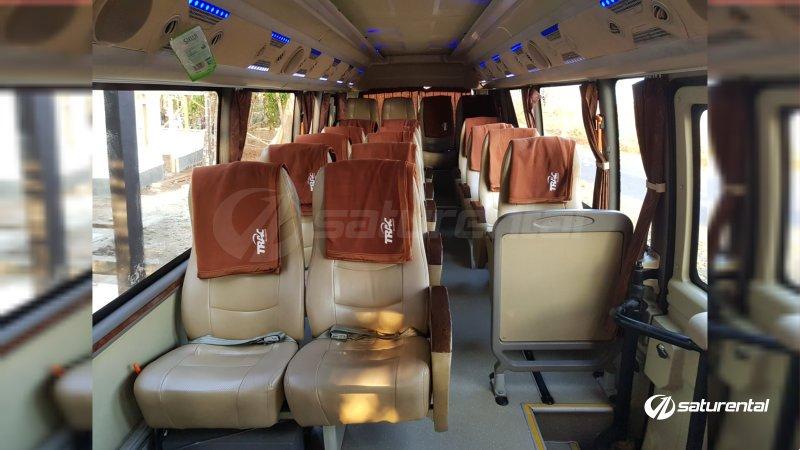 foto bus pariwisata trac toyota coaster 18 23 seats a