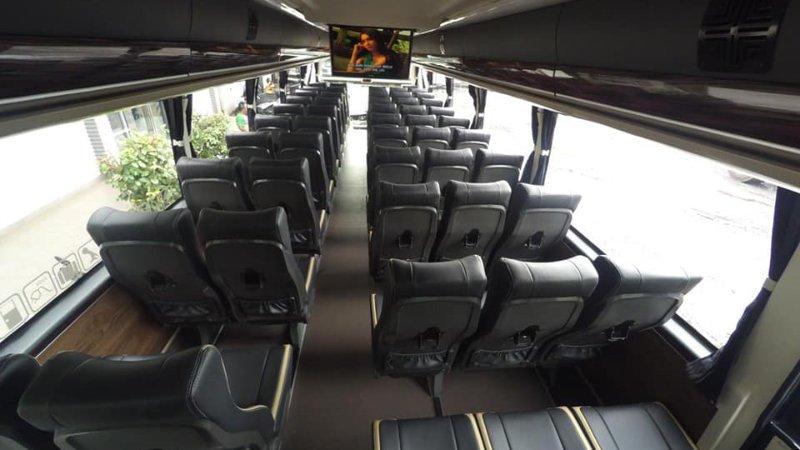 saturental - foto big bus pariwisata masterpiece shd hdd terbaru interior dalam 45t 59 seats a