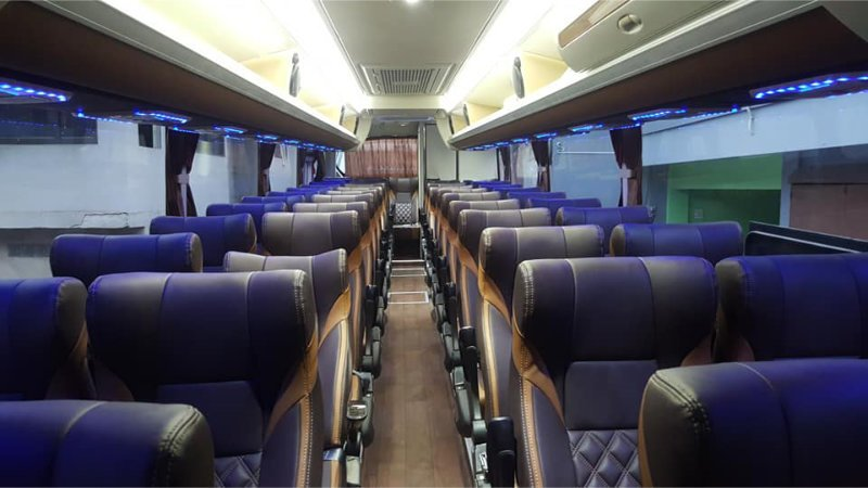 saturental - foto big bus pariwisata masterpiece shd hdd terbaru interior dalam 45t 59 seats c