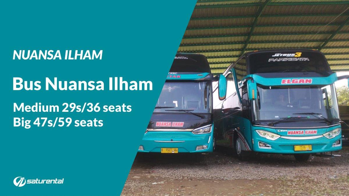Info Lengkap Foto Harga Sewa Bus Pariwisata Nuansa Ilham - Saturental