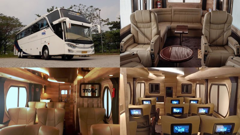 saturental - foto big bus pariwisata trac luxury terbaru jetbus 3 tronton a