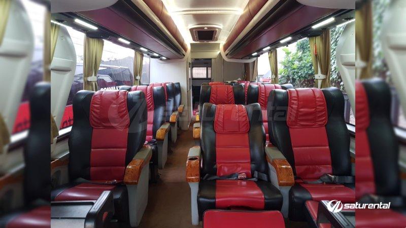 saturental - sewa bus pariwisata luxury manhattan interior 12 seats b