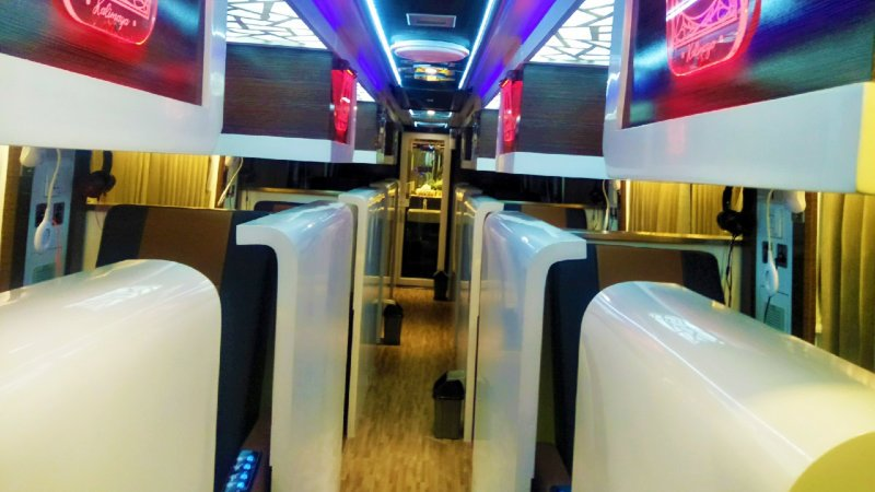saturental - sewa bus pariwisata luxury multi inti transport mit interior 8 seats d
