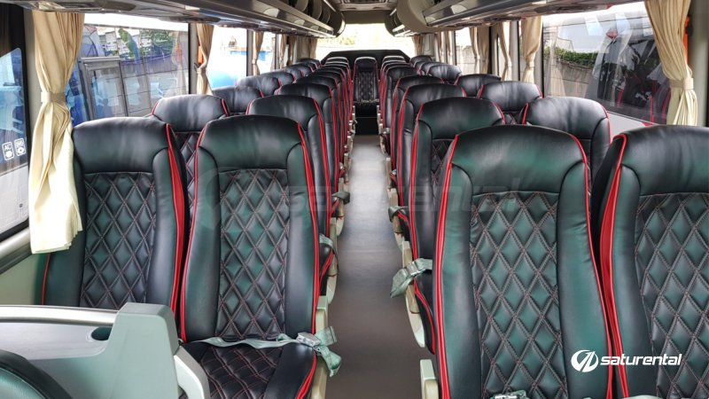 saturental - foto medium bus pariwisata white horse 35 seats c